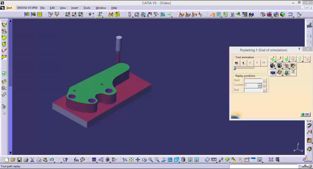 CATIA V5 TRAINING – MACHINING 3-AXIS SURFACE MACHINING (NCI,SMG)