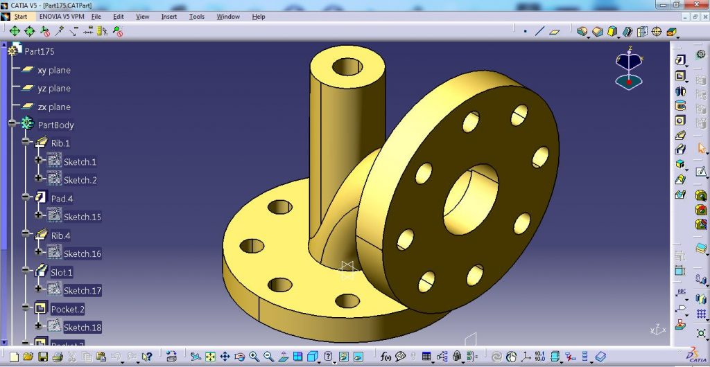 CATIA V5 TRAINING – FABRICATED PART DESIGN (CAT-B06)